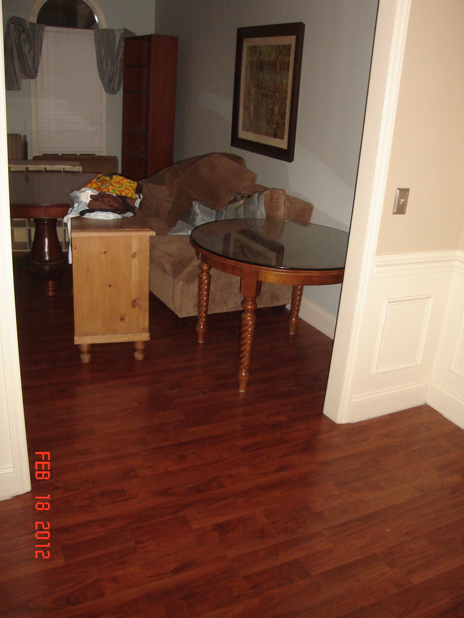 The columbia clickette laminate floors are installed for Columbia flooring installation instructions