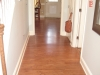 Wood floors in the hallway