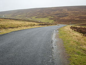 English: A winding road Through the Lammermuirs.