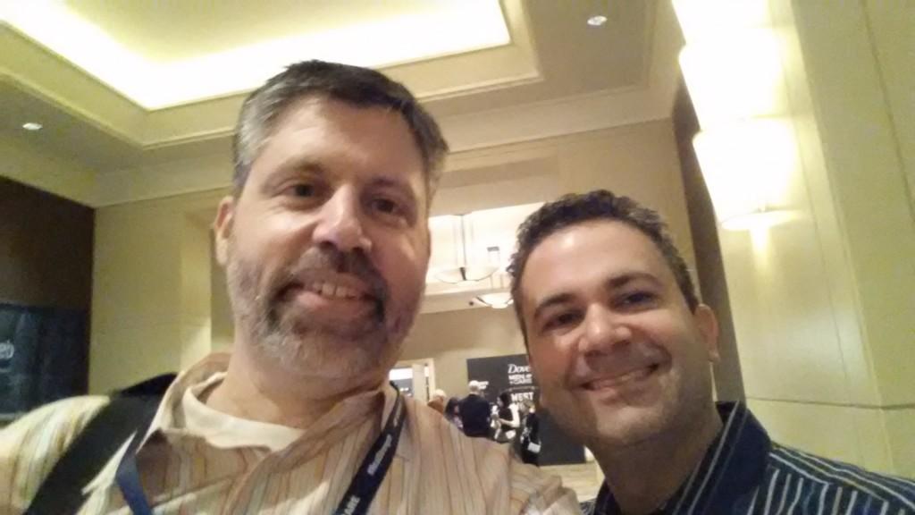 Scott Behson and I meet.