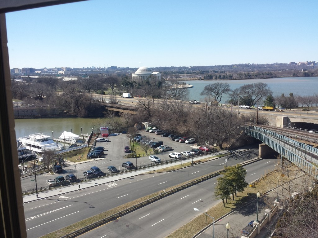 A view out the window of my room at the Mandarin Oriental, Washington DC
