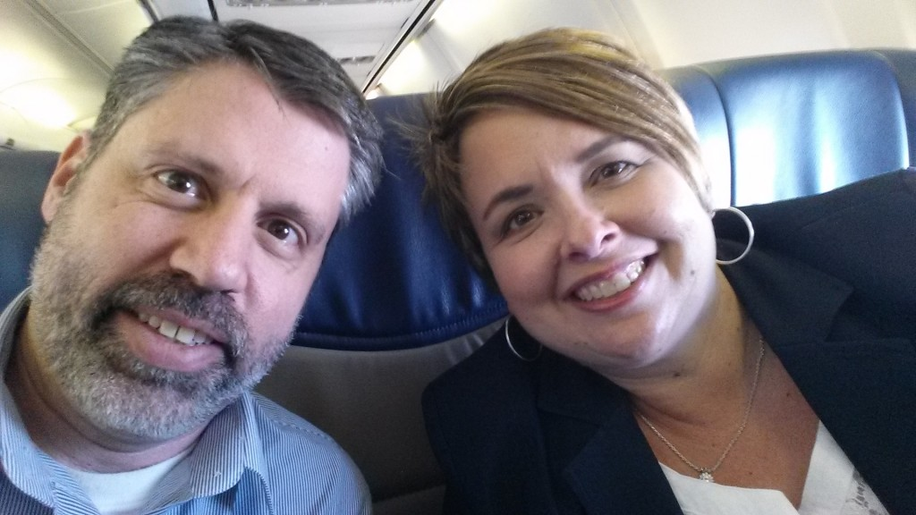 My wife and I are on our way!