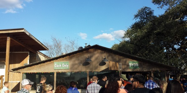 One of the newer buildings at the Salt Lick