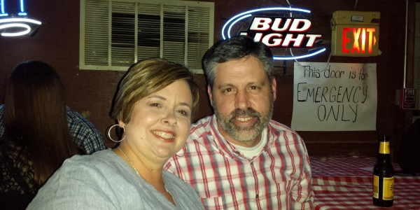 Having a great time at the Broken Spoke.