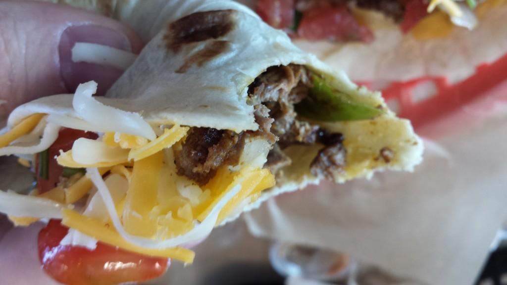 Torchys beef fajita taco