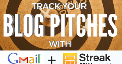 Track Your Blog Pitches in GMail with Streak CRM