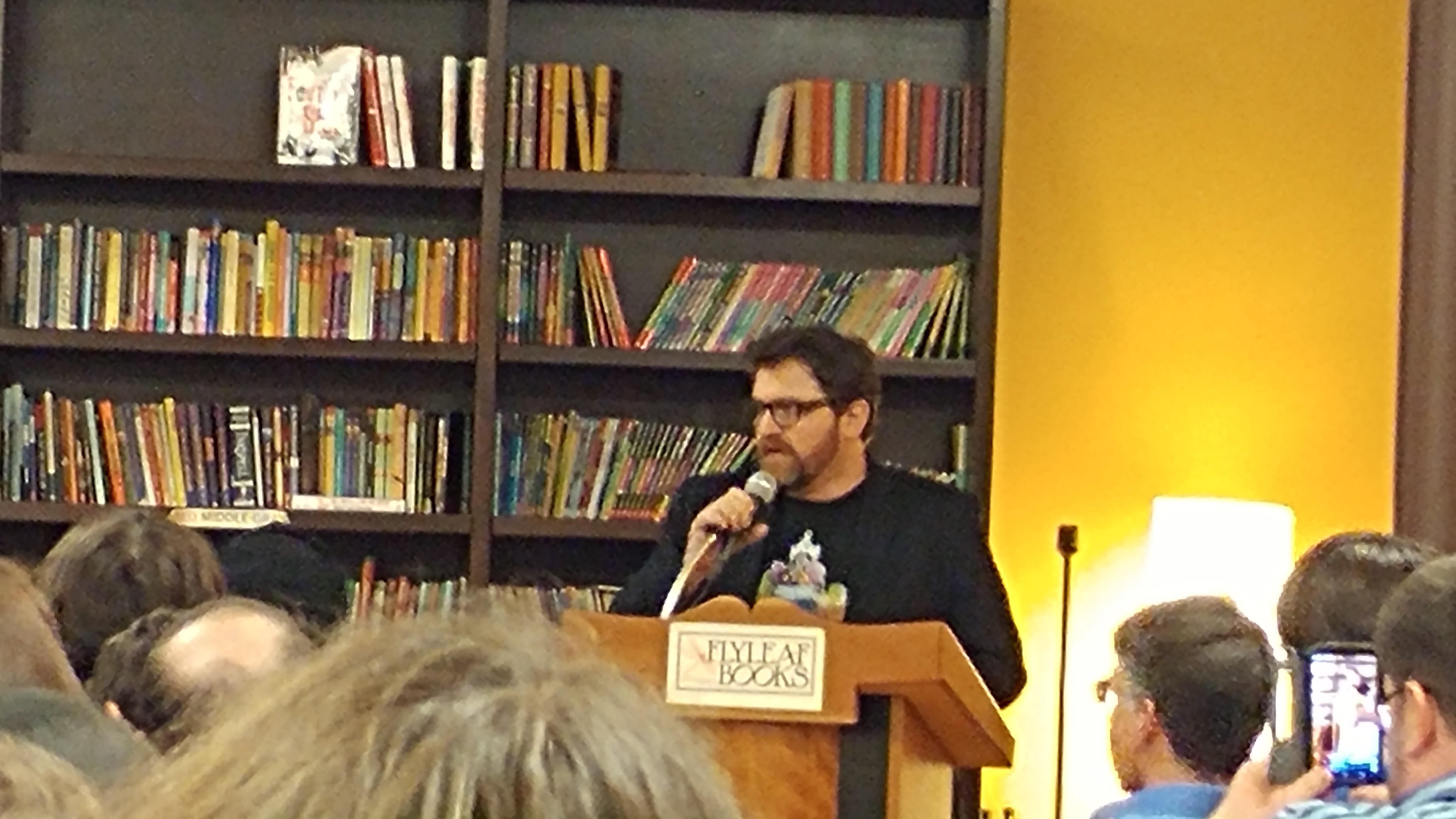 Ernie Cline's Armada and a Talk at Flyleaf Books, Chapel Hill