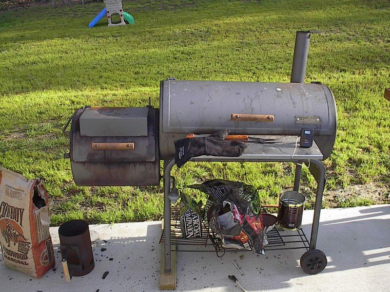 My barbeque pit in 2009