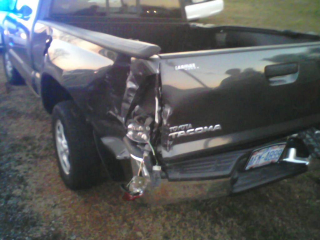 My pickup truck totaled.