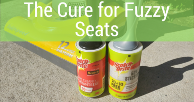Solving the Case of Fuzzy Car Seats with Scotch Brite Lint Rollers
