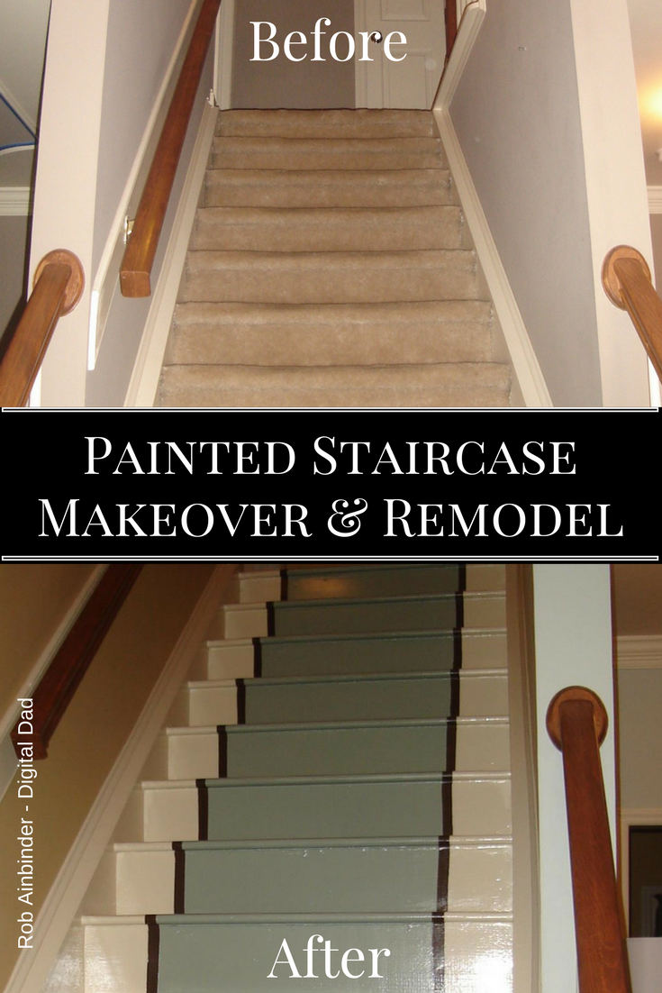 Diy Painted Staircase Makeover Repair Rob Ainbinder