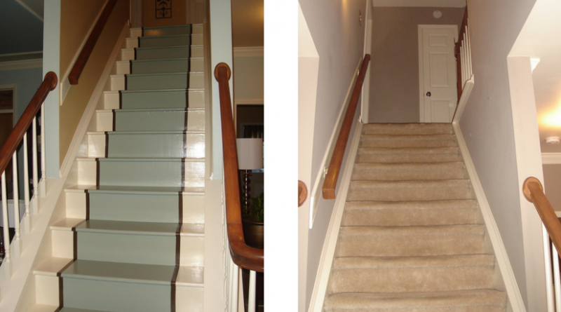 Diy painted staircase makeover repair rob ainbinder for Diy staircase makeover