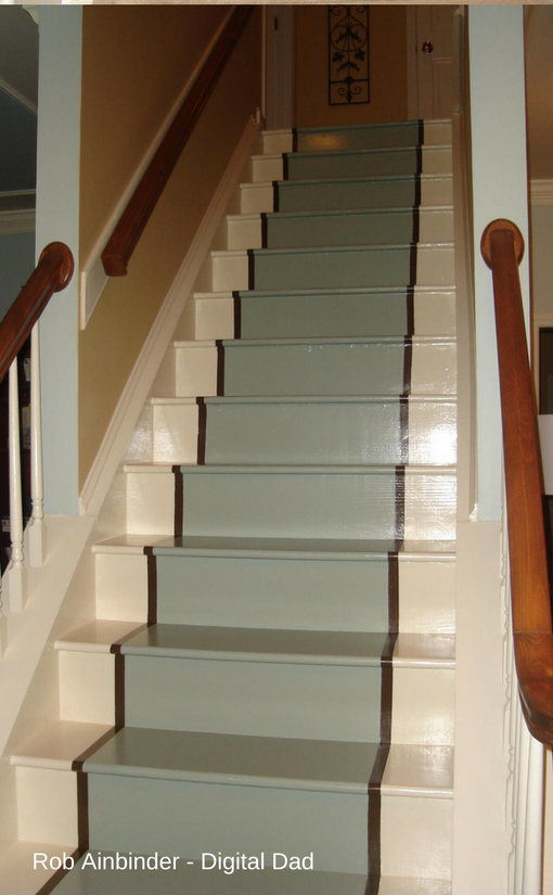 Staircase makeover finished.