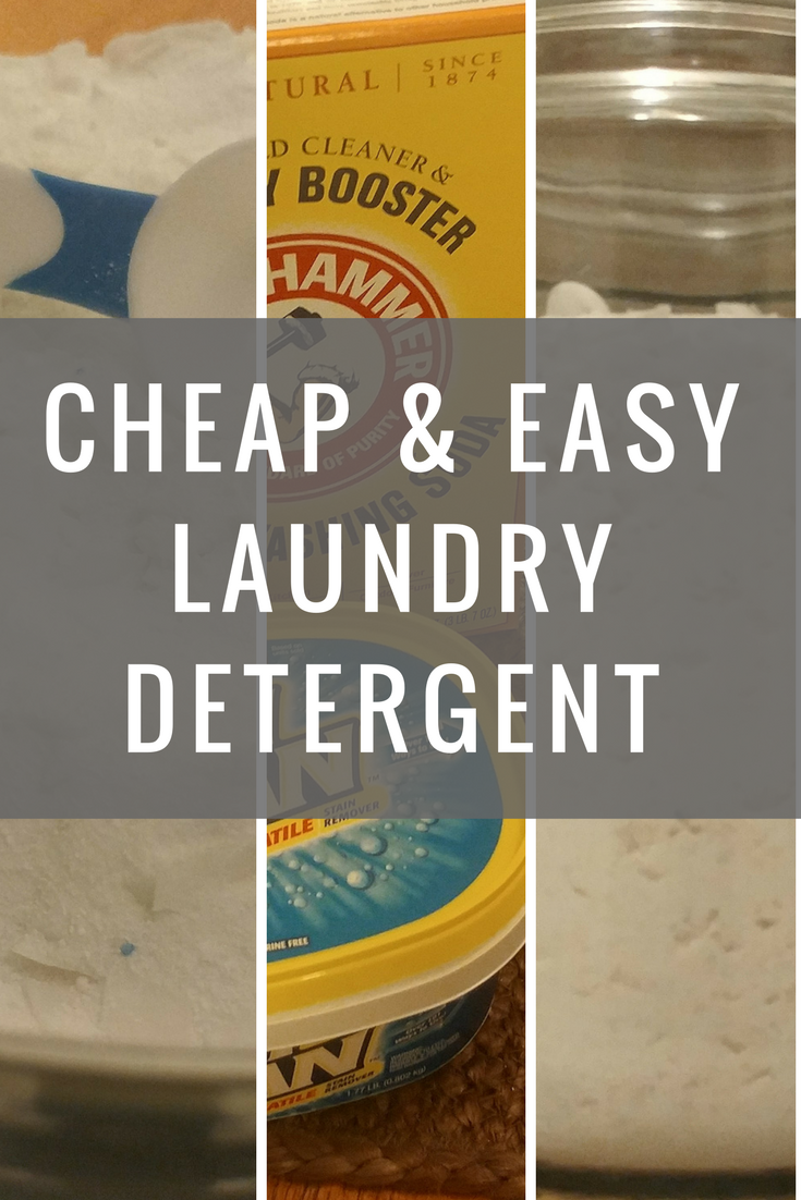 The Best Super Easy Amp Cheap One Step Homemade Laundry