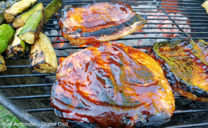 Grilled Cider Brined Pork Chops with Kingsford® Brown Sugar Applewood BBQ Sauce