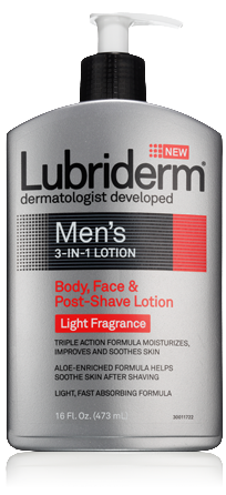 lubriderm 3-in-1 mens lotion light fragrance
