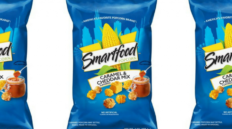 Happiness is….. a Bag of Blue Smartfood Cheddar & Caramel Popcorn