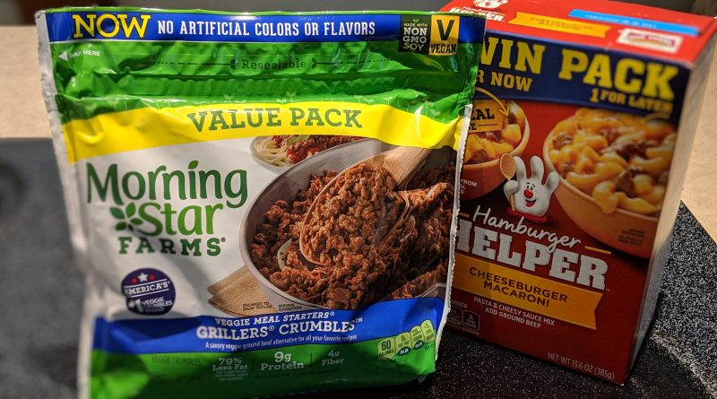 Meatless Monday: Meatless Hamburger Helper with Morningstar Farms Grillers Crumbles
