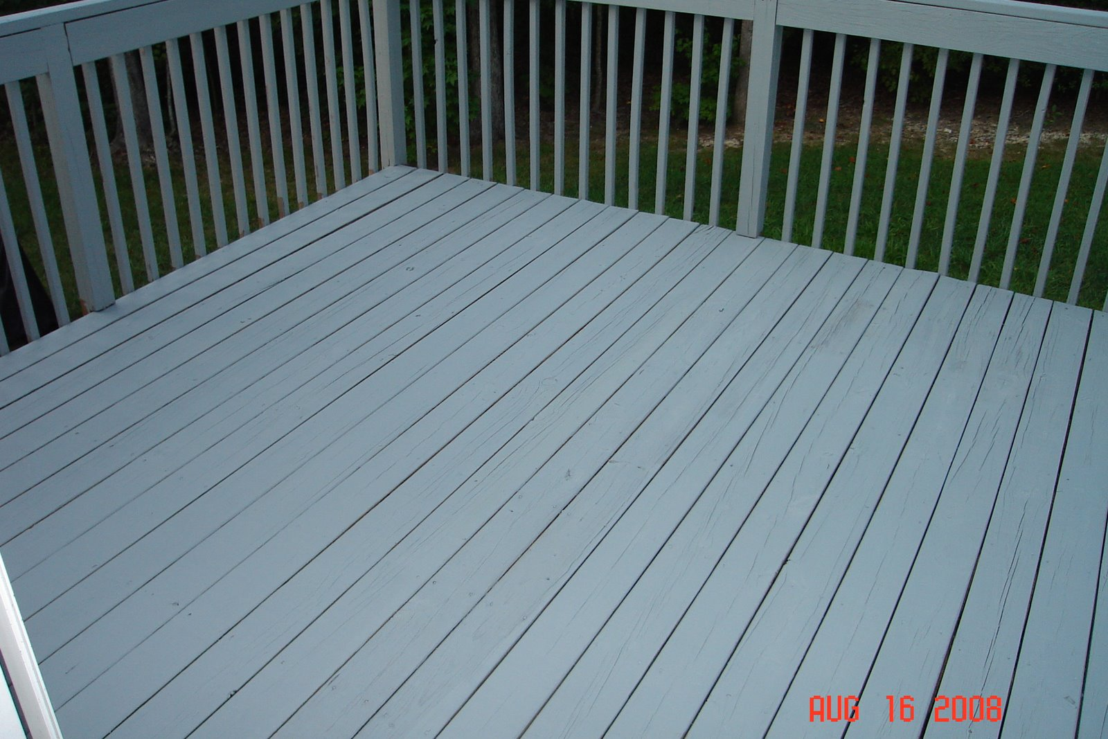 Deck power washed primed stained rob ainbinder digital dad for Cabot s exterior stain colours