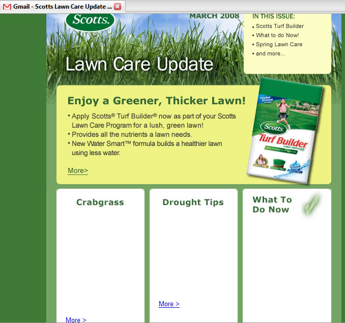 Scotts Lawn Care Your Email Doesn 39 T Render In Gmail Rob